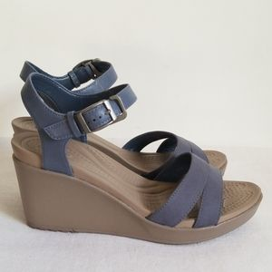 New Crocs Leigh Ankle Strap Wedge
